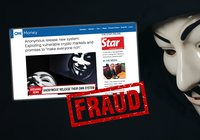 New move by crypto fraudsters – exploiting the name of hacker group Anonymous