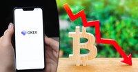 Storbörsen Okex har stoppat alla kryptouttag – bitcoinkursen dök efter beskedet