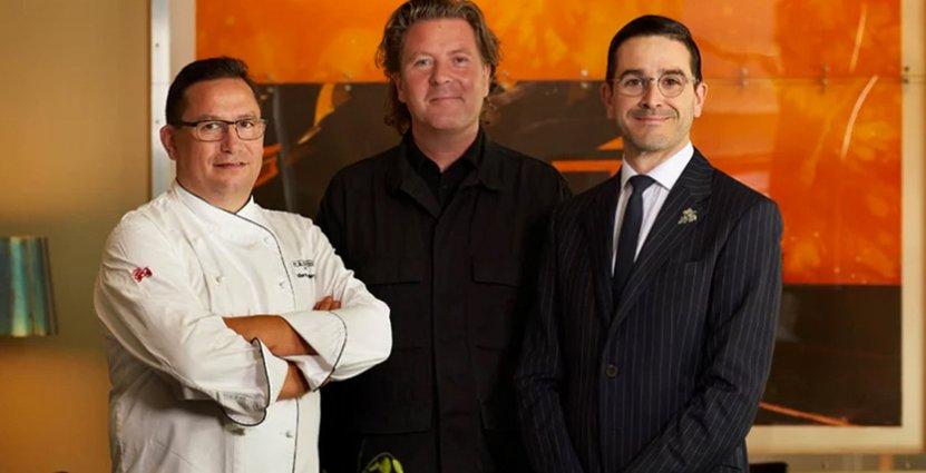 Stolt team. Kökschef Anders Lauring, ägare Per Bengtsson, och chefssommelier Rubén Sanz Ramiro på PM & Vänner.