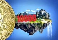 Bitcoinpriset har parkerat strax över 10 000 dollar – altcoins visar röda siffror