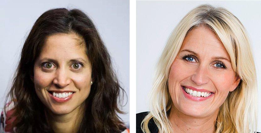 Vanessa Butani, hållbarhetschef på Scandic och Tina Tropp Jerresand, chef för People & Culture på Nordic Choice.