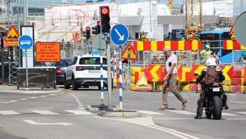 Flera trafikstopp på Nils Ericsonsgatan