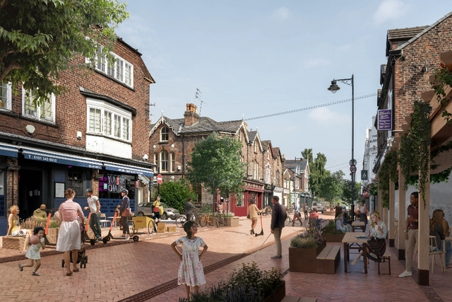 Lark Lane Liverpool reimagined with no cars