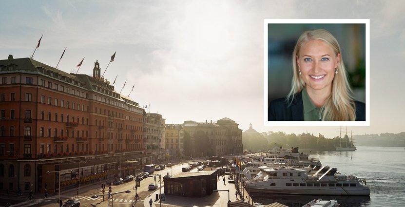 Laura Bergtoft, kommunikationschef på FAM som blir ny ägare av fastigheten Grand Hotel.