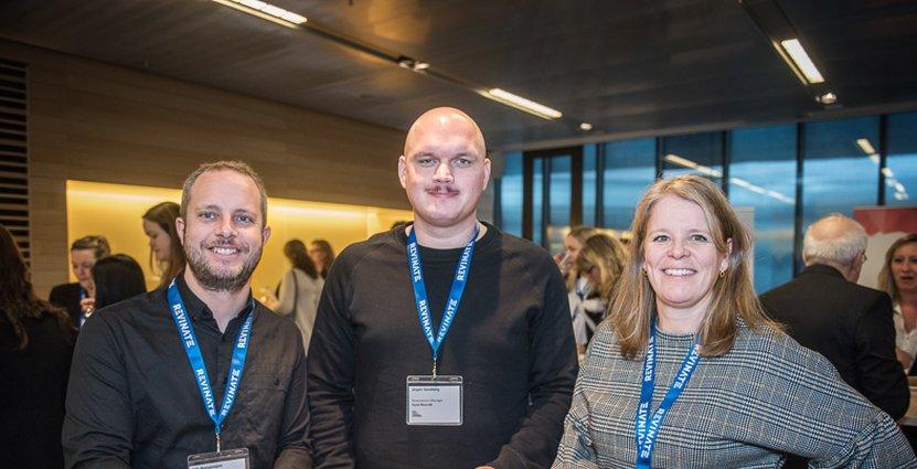 En trio från Rival Hotels: Nils Bornemann, Jesper Sandberg och Ann-Sofie Strand.