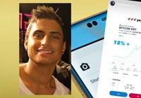 Samir Badran haussar kryptocertifikat på sitt Instagramkonto:
