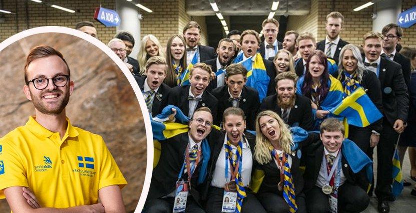 Elias Larsson är den första svenska<br />  hotellreceptionisten att ta en pallplats vid ett Yrkes-VM. Foto: Pressbilder