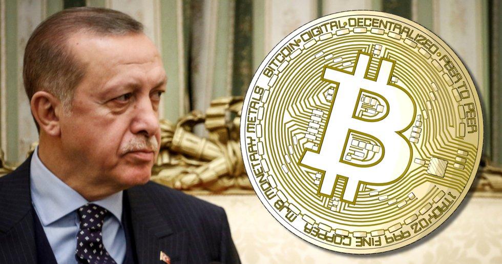 Turkiets president Erdoğan förklarar krig mot kryptovalutor
