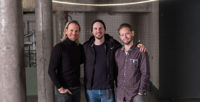 Nya Göteborgskrogen Zamenhofs tre grundare Jens Odén, Andreas Harrysson<br />  och Daniel Brobäck. Foto: Zamenhof