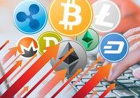 Breda uppgångar på altcoinmarknaderna – men bitcoinpriset ligger still