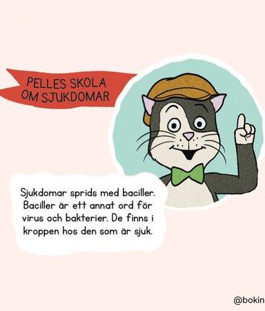 Pelle Svanslös skola om sjukdomar