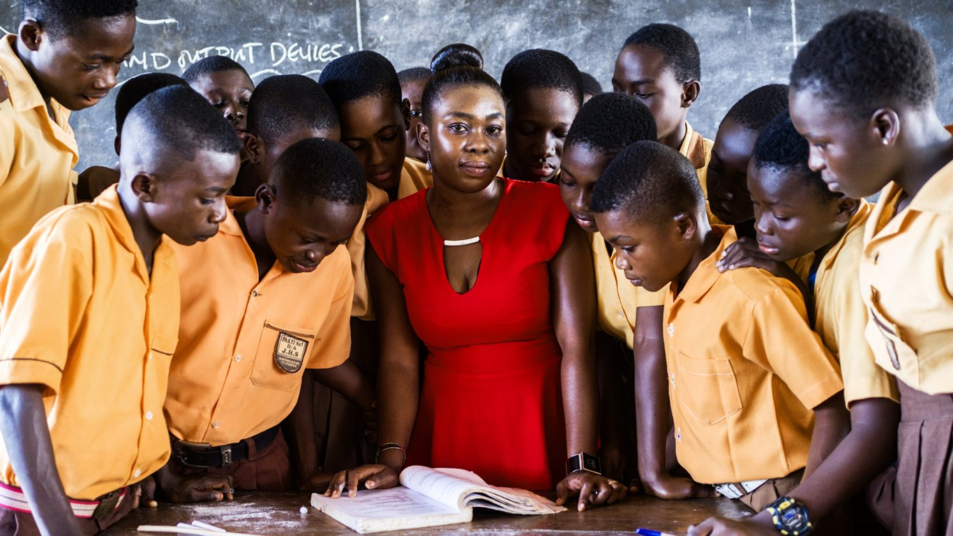 """<p>""""This building is going to give us a comfortable room for them to stay. So we are most grateful and we are really, really happy,""""says Hannah Amankwah, teacher at the Pakyi School No. 1.</p>"""