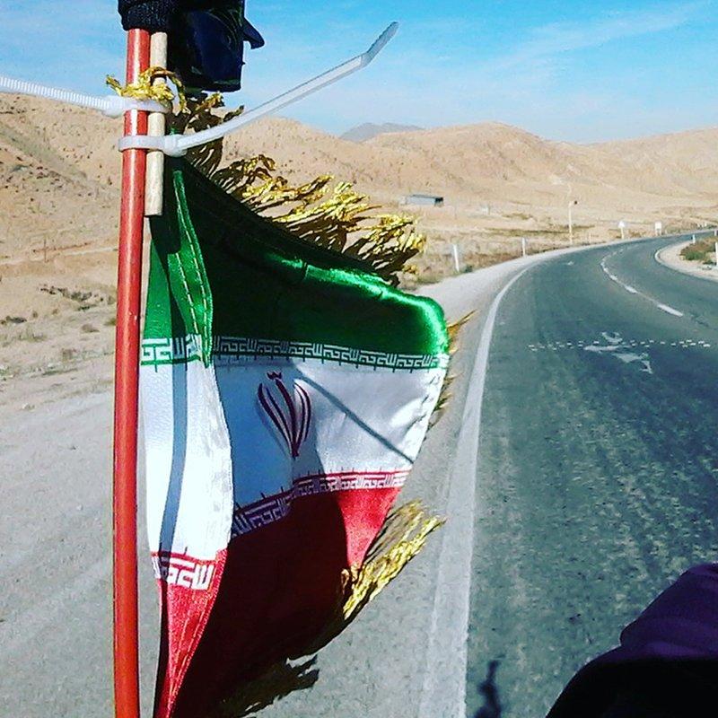 Kristina Paltén sprang själv genom Iran: