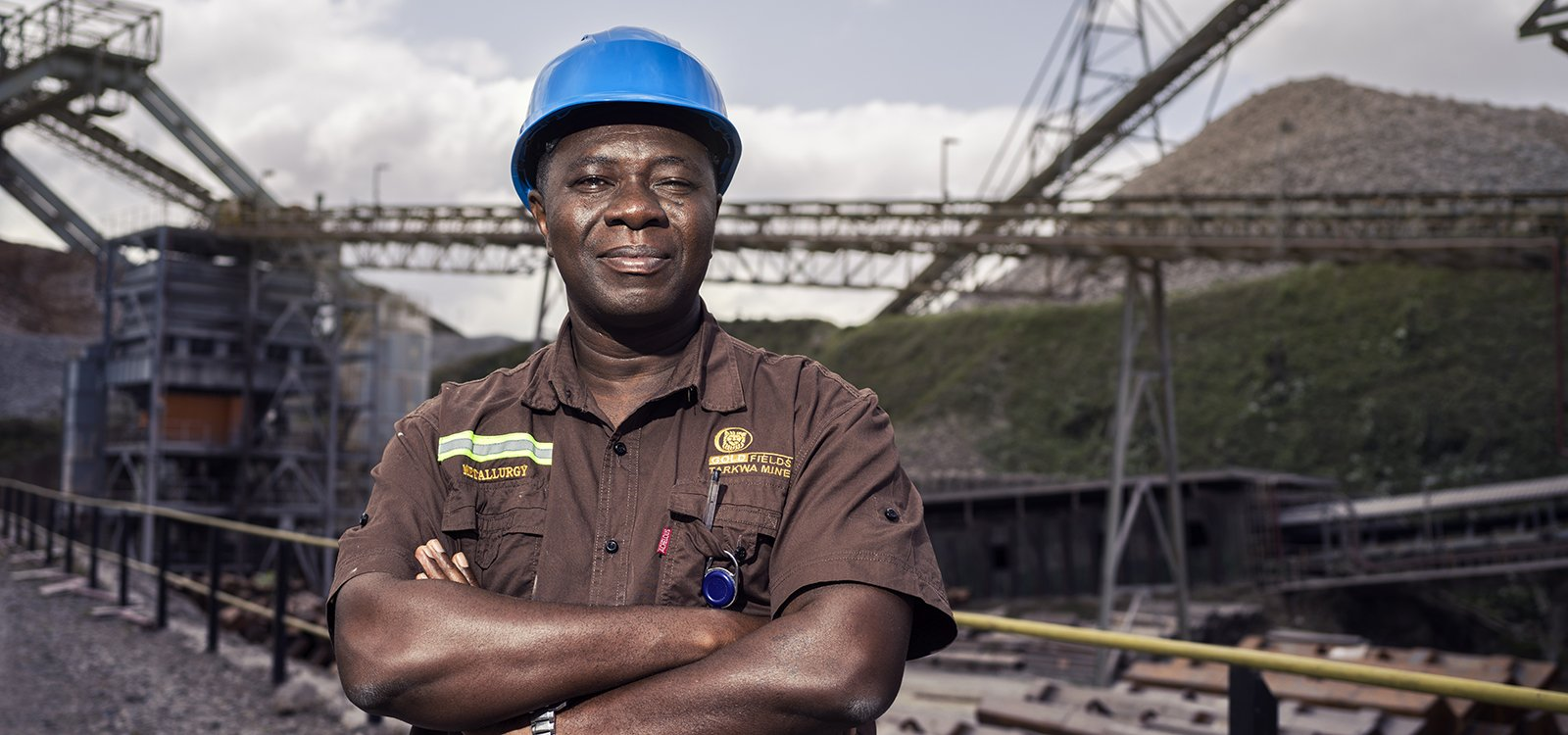 <p>Gold Field's metallurgical manager, Henry Mensah Atakora</p>