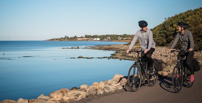 Cykelturismen i Sverige växer, och allt fler får upp ögonen för<br />  Sveriges första nationella cykelled, Kattegattleden. Foto: Lena Evertsson