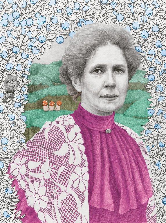 Elsa Beskow. Illustration av Helena Frank