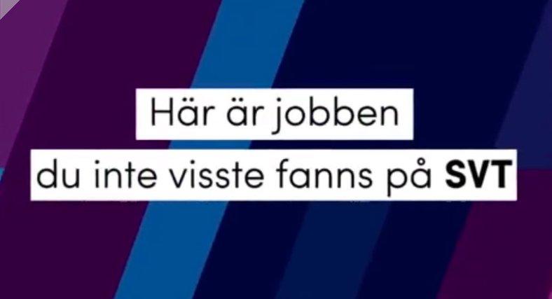 Jobben du inte visste fanns på SVT