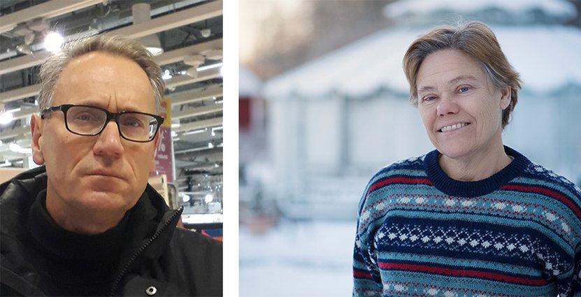Ola Thufvesson, platsforskare vid Lunds universitet, och Lena Mossberg, <br /> professor i marknadsförening vid Göteborgs universitet. Foto: Weijia Thufvesson/Bengt Säll