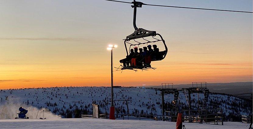 Bra tryck i skidanläggningar under sportlovsveckorna. Foto: Skistar