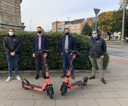 Voi presents e-scooter prototype with collision detection and traffic light phase optimization
