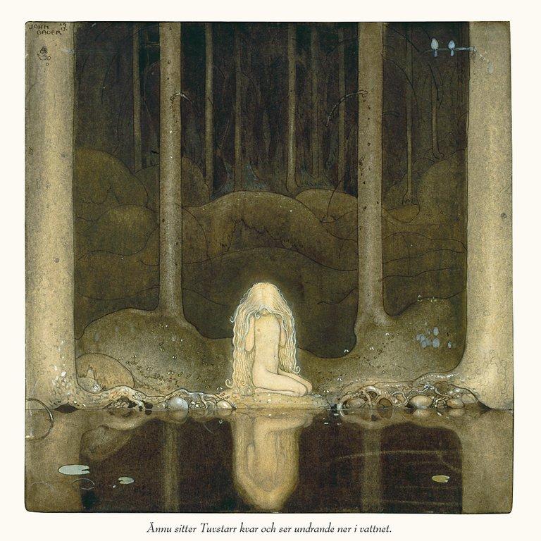 Akvarell av John Bauer ur <i>Om tomtar och troll</i>