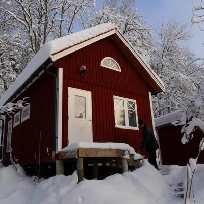 Ateljé i vinterskrud