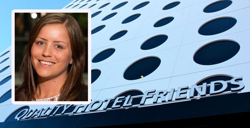 Hanna Lidén Blom, ny hotelldirektör på Quality Hotel Friends, <br /> brinner för att få andra att ge bra service. Foto: Nordic Choice Hotels