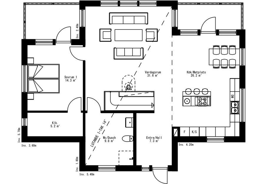 Planritning för Villa Stormon