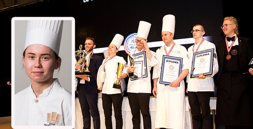 Desirée Jaks belönades med ett juniorguld i Nordic Chef of the Year.