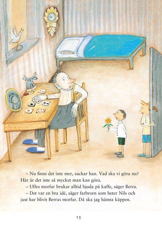 Illustration ur Kan du vissla Johanna? av Ulf Stark och Anna Höglund