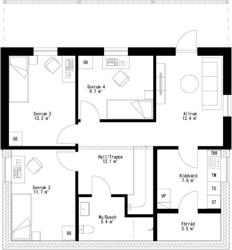 Planritning för Villa Sjöviken