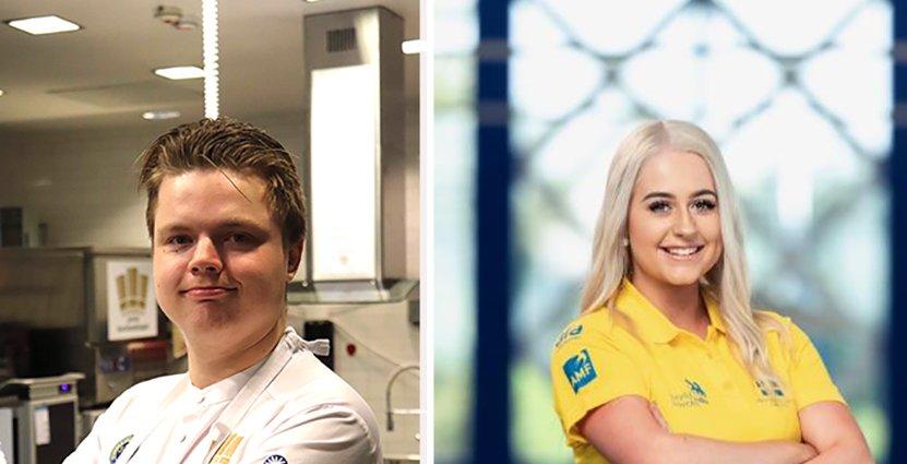 Jolanda Edvardsson och William Brittsjö är två av de uttagna till svenska yrkeslandslaget som ska tävla i World Skills 2019. Foto: Pressbild
