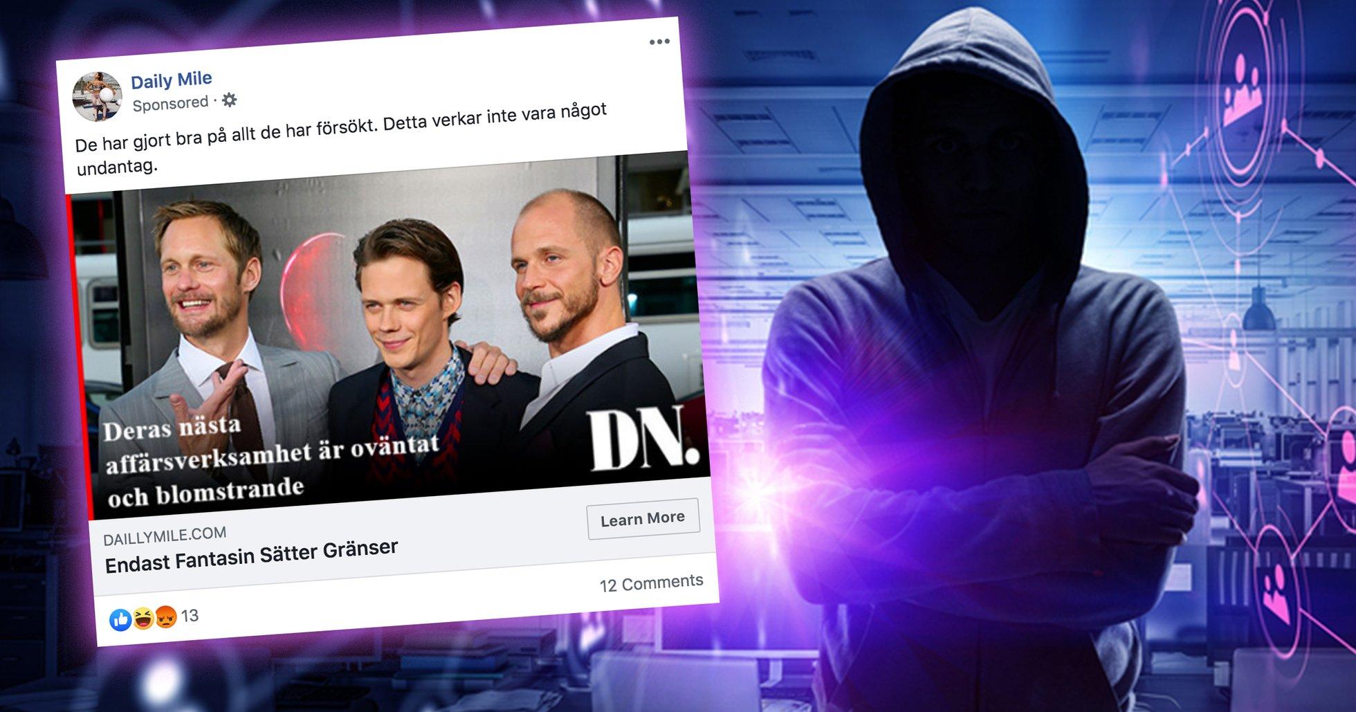 Bröderna Skarsgård drabbade i bitcoin-bluff
