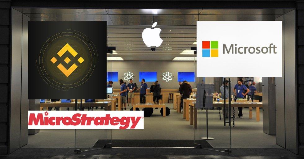 Binance lanserar nya aktietokens – för Apple, Microsoft och Microstrategy.