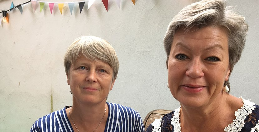 Irene Wennemo, statssekreterare och Ylva Johansson, arbetsmarknadsminister.