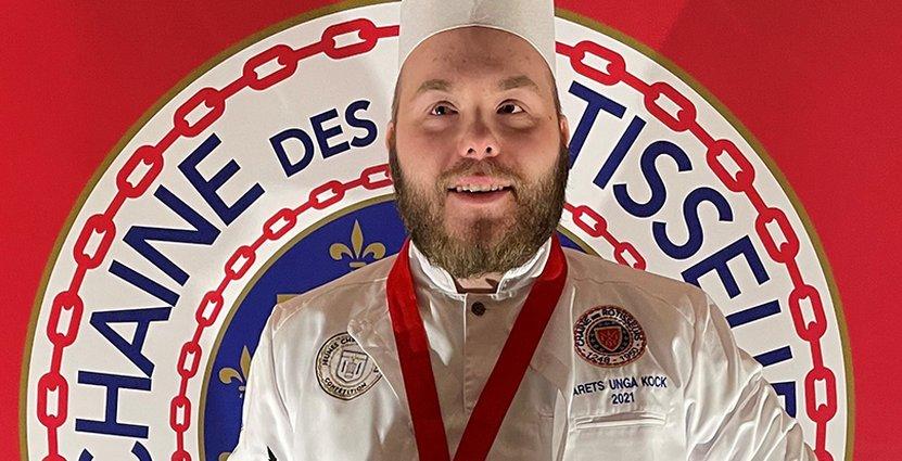 Pontus Lindgren från restaurang Omaka är Årets Unga kock.  Foto: Chaine presse