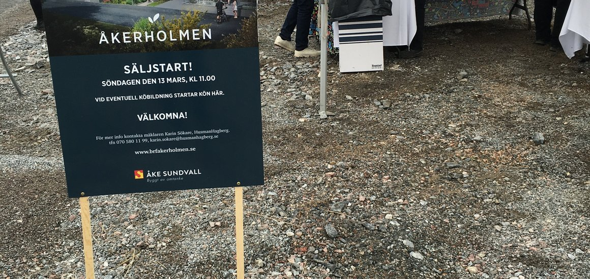 Åkerholmen har säljstartat