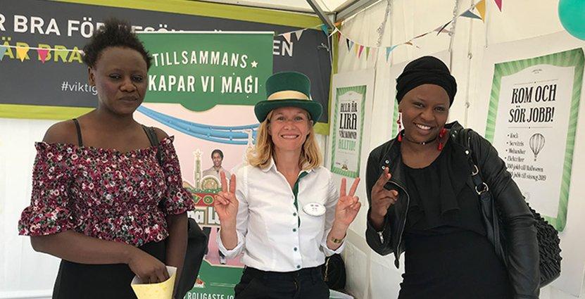 Gröna Lunds Ida Troive mötte flera potentiella medarbetare under Järvaveckan. Foto: Gröna Lund