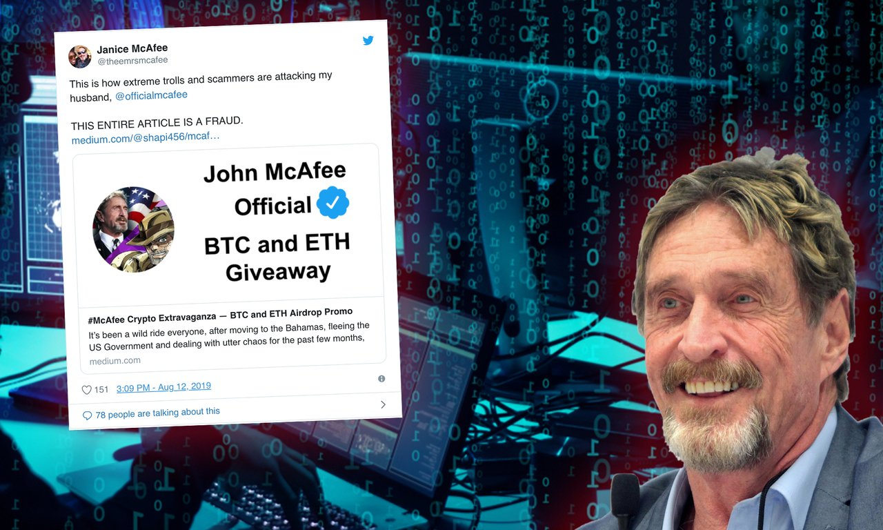 The crypto scammers new method: Pretends to be John McAfee