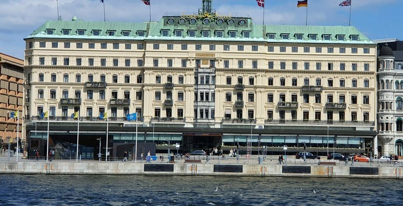 Grand Hotel har byggt ny entré under pandemin Anders Johansson