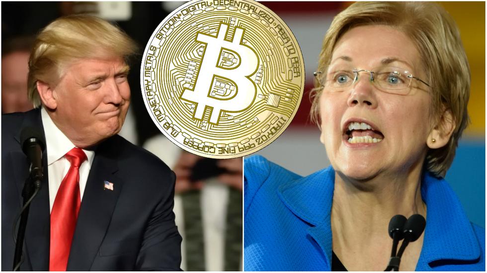 Crypto critic Elizabeth Warren challenges Donald Trump in the 2020 US presidential race.