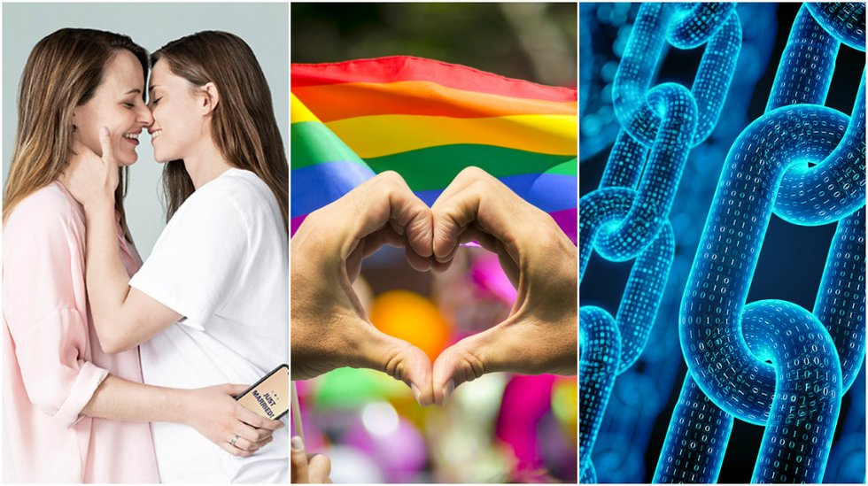 LGBT persons around the world can now get married – thanks to blockchain.