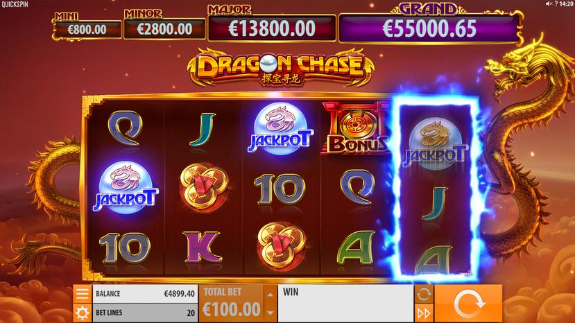 Dragon Chase jackpot