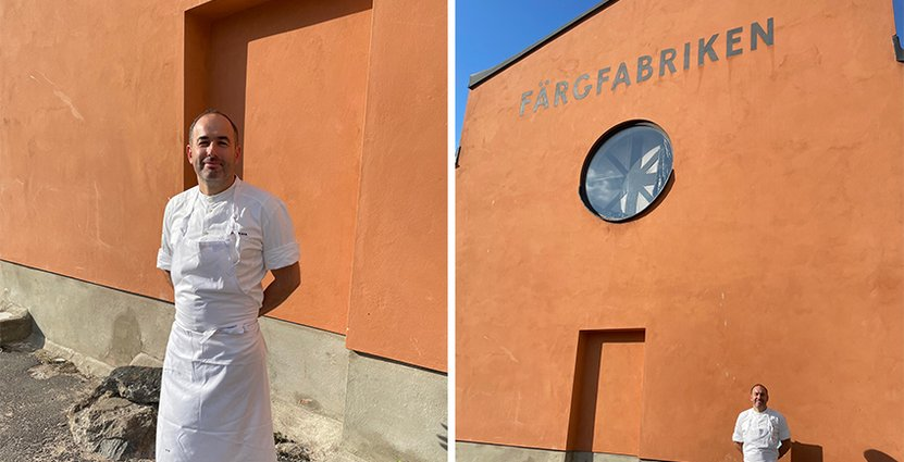 Vladimir Janjin är ny kökschef på färgfabriken. Foto: Kim Sjösberg