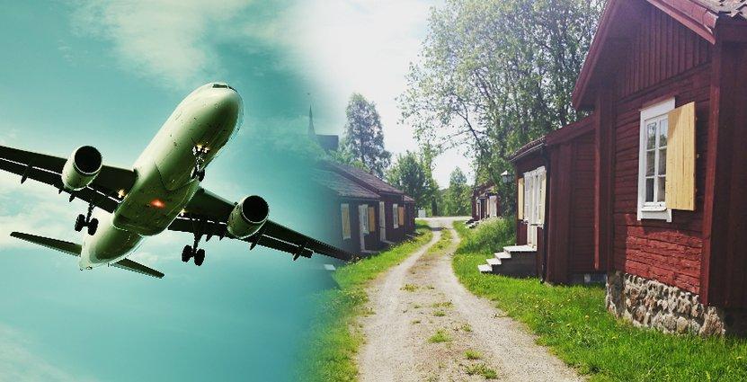 Den ökande trafiken på Skellefteå Airport har gett Lövånger Kyrkstad en rejäl skjuts i sommar.