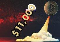 Efter turbulenta veckan: Bitcoin rusade över 11 000 dollar