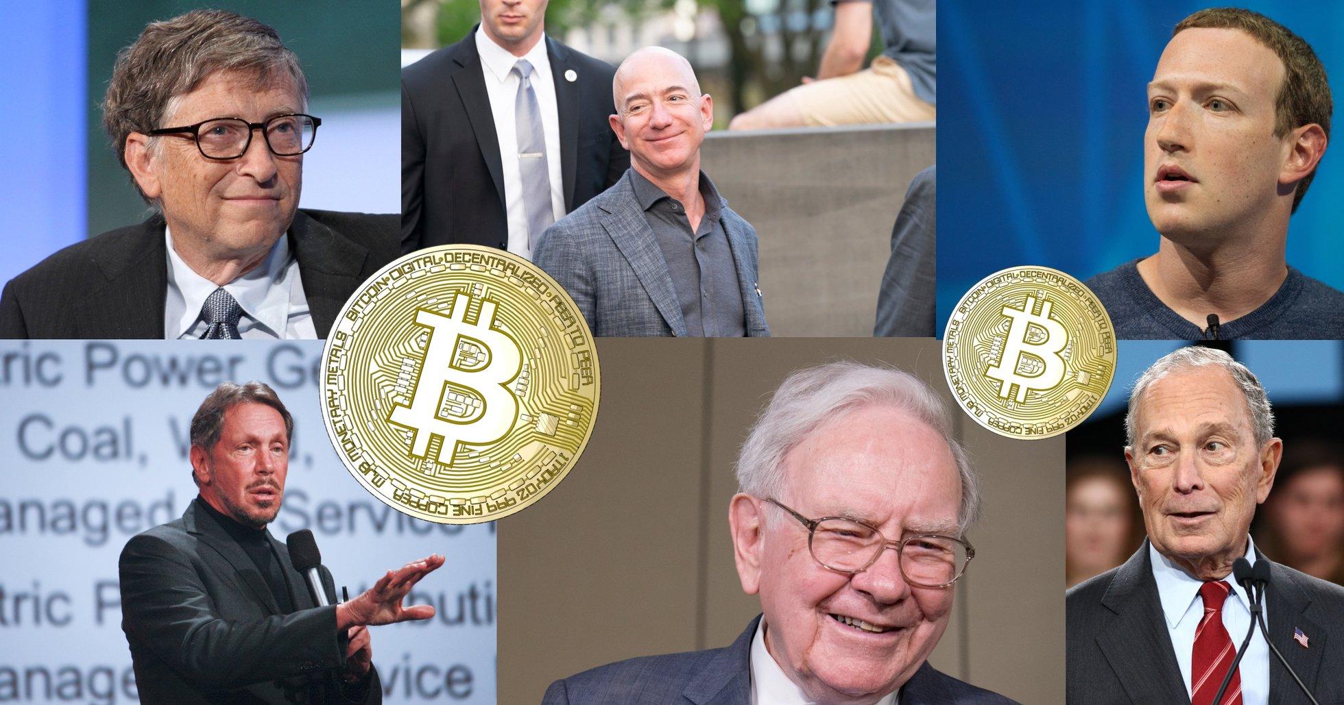 Från Bezos till Zuckerberg – det här tycker världens rikaste personer om kryptovalutor