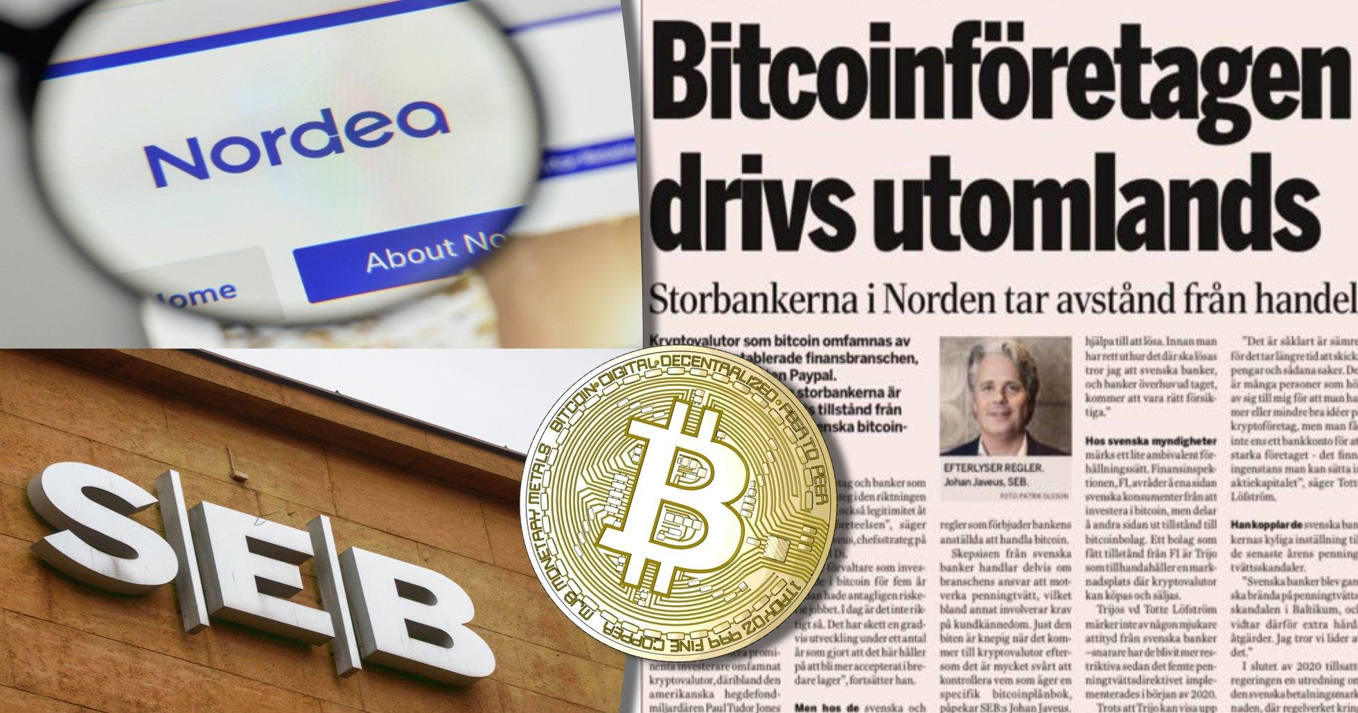 Stor affärstidning uppmärksammar svenska bankers negativa inställning till kryptovalutor