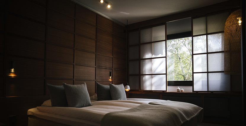 Ett av Yasuragis nya, tv-fria rum.