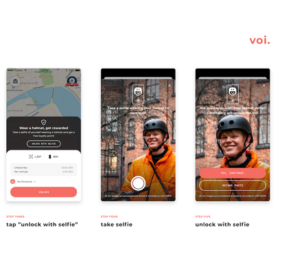 Wear a helmet, get rewarded: Voi launches new Helmet Selfie feature to our app